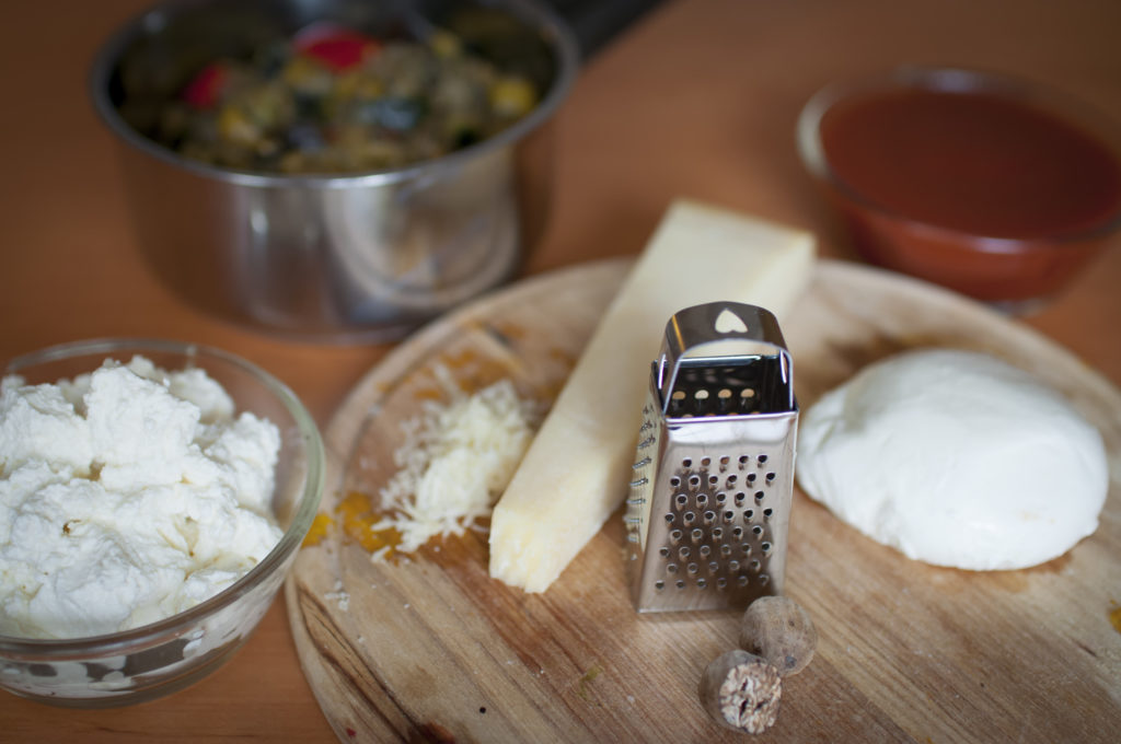 ingredience pro vegetariánské lasagne
