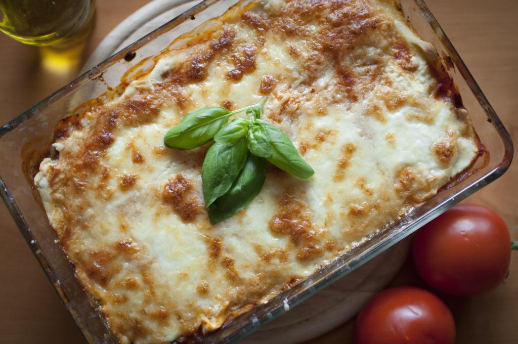 vegetariánské bezlepkové lasagne